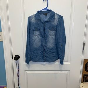 Faded blue button down